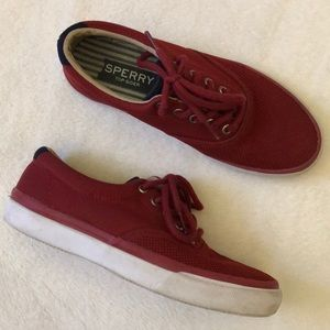Red men's Sperry Top-Sider sneakers STS13252 sz 7